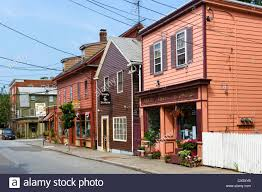 historic shops and houses derby street salem massachusetts usa