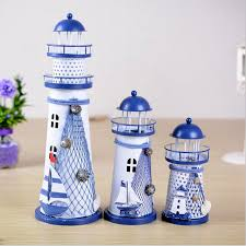 handmade mediterranean style iron lighthouse flash arts
