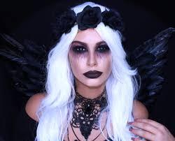 fallen dark angel makeup halloween tutorial tashietinks