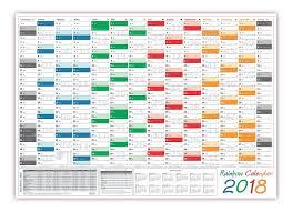 Ferienkalender 2018 Bw Rainbow Wandkalender Din A1 2018 Gerollt Rainbow Wandplaner
