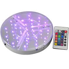 Led Light Base For Centerpieces by 8inch Smd5050 Led Centerpieces Light Base With 24keys Remote
