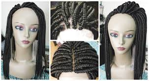 hair braid for a closure how to small box braid wig with lace closure youtube