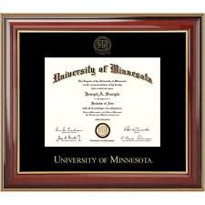 frames for diplomas of minnesota bookstore