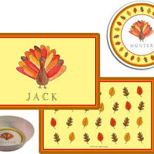 personalized thanksgiving melamine children s plate from