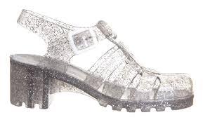 damen juju hi jelly shoes multi multi glitter sandalen ebay