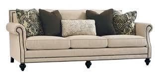 brae upholstered sofa with nailhead trim b6717a bernhardt