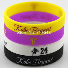 rubber cuff bracelet images 1pc kobe bryant wristband silicone bracelets number 24 rubber cuff jpg