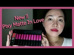 Lipstik Pixy Matte pixy matte in lipstick swatch and review shade ymary