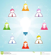 team idea contribution royalty free stock images image 35712049