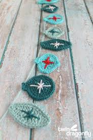 crochet garland hop crochet ornaments crochet