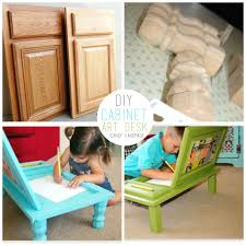 Kitchen Cabinet Art Cabinet Door Into Art Desk Tutorial U Create