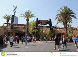 Map Universal Studios Hollywood Jurassic Park Ride At Universal Studios Hollywood Editorial Stock
