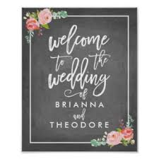 wedding signing board wedding sign posters zazzle