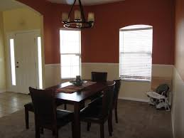 burnt orange wall behr paint in caramelized orange for dining