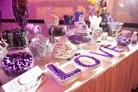 Purple Table L Purple Buffets Time For The Holidays