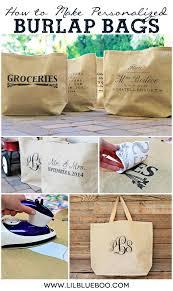Custom Burlap Art Print Love - how to make personalized burlap bags