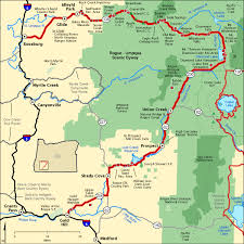 americas byways rogue umpqua scenic byway map america s byways