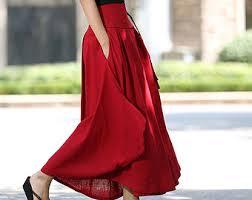 Long Flowy Maxi Skirt High Waisted Skirt Etsy