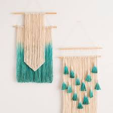 diy modern gold wall hanging with tassels brittanymakes all in