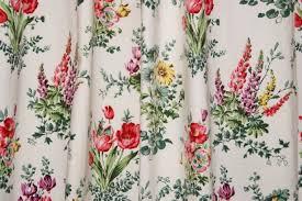 Retro Floral Curtains Gorgeous Springtime Vintage Floral Cotton Curtains Vintage Past