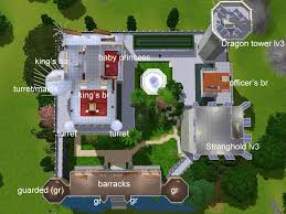 Japanese Castle Floor Plan Mod The Sims The Fairytale Sky Castle Base On The