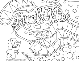 free printable coloring page no swear word coloring page