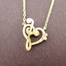 heart shaped charm necklace images Treble and bass clef heart shaped music lovers charm necklace in jpg