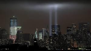 9 11 Memorial Lights World Trade Center 9 11 Memorial In Light
