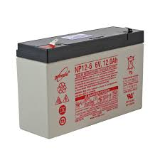 6 volt 12 ah sealed lead acid battery f1 terminal batterymart com