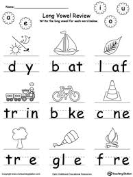 long vowel review write missing vowel long vowels printable
