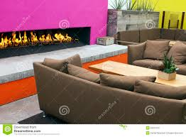Modern Outdoor Patio by Outdoor Patio And Fireplace Royalty Free Stock Photography Image