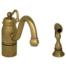 Polished Brass Kitchen Faucet Kitchen Single Hole Faucets