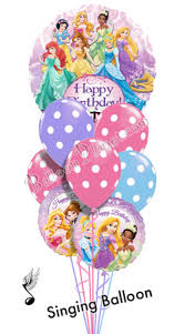 singing balloons delivery princess birthday i singing balloon bouquet 9 balloons balloon