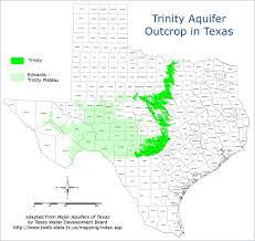 Colorado River Texas Map The Trinity Aquifer