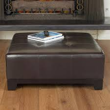Faux Leather Ottoman Shop Best Selling Home Decor Darlington Espresso Faux Leather