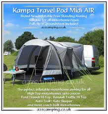 Motorhome Free Standing Awning 2015 Kampa Travel Pod Midi Air Inflatable Drive Away High Top Awning