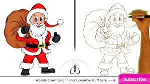 drawing santa claus step by step how to draw santa clause stepstep