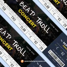 ticket template free download free download party ticket template u0026 psd mockups
