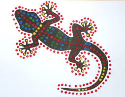 gecko dot paintings craft u0027n u0027 home
