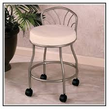 bathroom bathroom vanity stools with wheels on bathroom intended