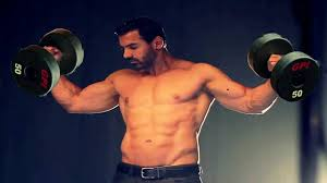 john abraham workout in gym the builders