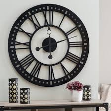 black oversized wall clocks for rustic home decor oversized wall