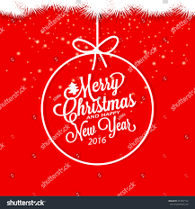 Invitation Card For Christmas Merry Christmas Happy New Year Invitation Stock Vector 343867142