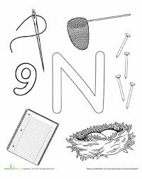 n is for letter worksheets worksheets and activities