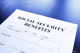 bureau securité sociale sécurité sociale bénéficie forme montrant financière concept au