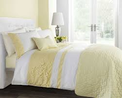 lemon colour stylish embroidery cutwork duvet cover luxury