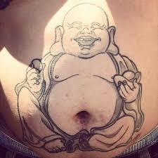 wonderful lord buddha tattoo on man u0027s belly tattooshunter com