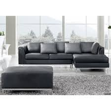 Sofa With Ottoman by Creative Of Black Leather Sectional With Ottoman Black Leather