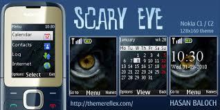 themes nokia c2 mobile scary eye theme for nokia c1 c2 00 themereflex