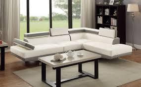 Faux Leather Sectional Sofa Sofas Bobkona Burney Faux Leather Sectional Sofa